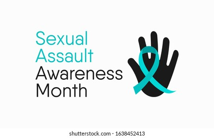 Vector illustration on the theme of Sexual Assault Awareness and prevention month of April.