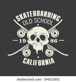 Vector illustration on the theme of skateboarding