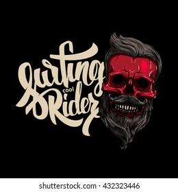 Vector illustration on the theme of surfing, t-shirt graphics, vintage illustration, emblem, California, vector. lettering surfing, sticker surfing, t-shirt surfing, poster surfing, graffiti surfing.