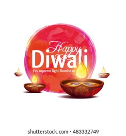 Vector illustration on the theme of the traditional celebration of happy diwali. festival of lights and light. graphic design for flyers, brochures and cards