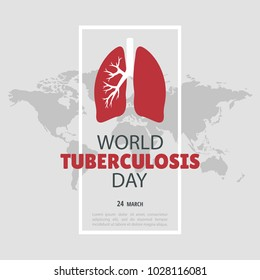 Vector Illustration on the theme World Tuberculosis Day