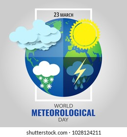 Vector Illustration on the theme World Meteorological Day