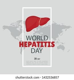 Vector Illustration on the theme World Hepatitis Day