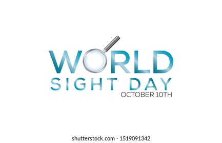 Vector Illustration on the theme World Sight Day on October 10th