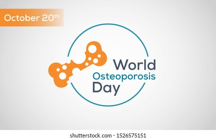 Vector Illustration on the theme World Osteoporosis Day on October 20.