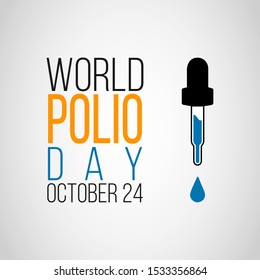 Vector illustration on the theme of world Polio day on October 24th