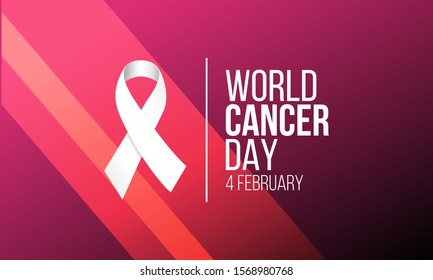 Vector illustration on the theme of World Cancer Day on February 4th.