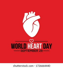 Vector illustration on the theme of World Heart day observed each year on September 29th worldwide.