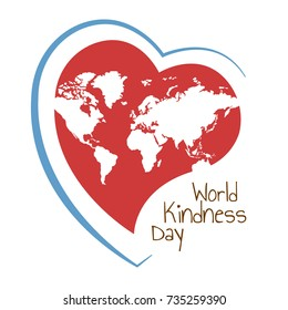 Vector Illustration on the theme World Kindness Day.