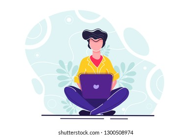 vector illustration on white background. the best estimate of performance, the score of five points. people leave feedback and comments, successful work is the highest score