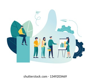 vector illustration on white background. best performance, score five points. people leave reviews and comments that successful work is the highest score, the hand shows the gesture a class - Vector -