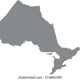 vector illustration of Ontario map