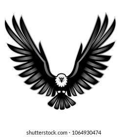 vector illustration of a open wings eagle