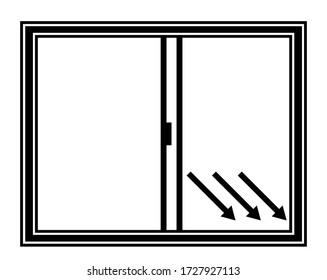 窓を開け、空気を入れ替えるベクターイラスト。