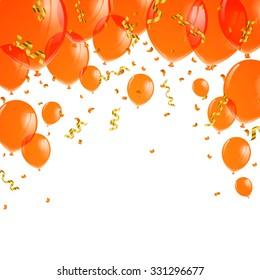 Vector Illustration of Orange Balloons