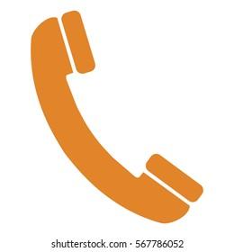 Vector Illustration with Orange Phone Icon