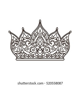 Adult Crown Coloring Pages Images Stock Photos Vectors Shutterstock