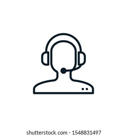 Vector illustration outline design of customer service icon. Editable stroke. Outline icons suitable for web, infographics, interface and apps.