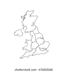 Map Of Uk With Regions.Uk Map Counties Images Stock Photos Vectors Shutterstock