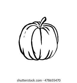 Pumpkin Outline Images Stock Photos Vectors Shutterstock
