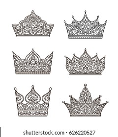 Adult Crown Coloring Pages Images, Stock Photos & Vectors ...