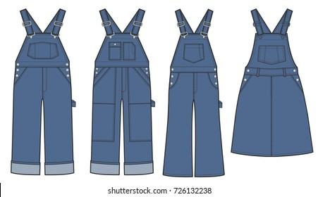 Vector illustration of Overalls.