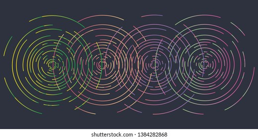 vector illustration of overlapping concentric circles grid for bright backgrounds and patterns