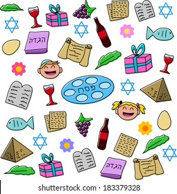 Vector illustration pack of Passover symbols and icons.