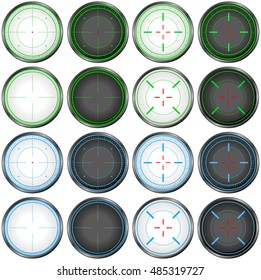 Vector illustration pack of sniper targets.
