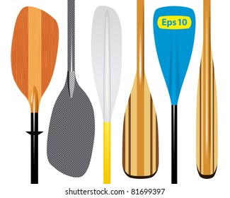 Vector illustration of paddles. Eps 10.