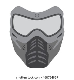 Vector illustration of paintball mask.  Made in flat style.