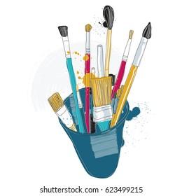 Vector Illustration of Paintbrush