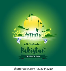 Vector illustration of Pakistan defence day, 6th September