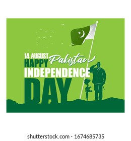 vector illustration for Pakistan independence day-14th August