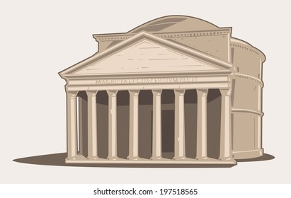 Vector Illustration of the Pantheon in Rome