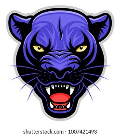Vector illustration of panther head.