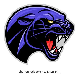 Vector illustration of panther head profile.