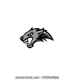 Vector illustration of panther head tattoo
