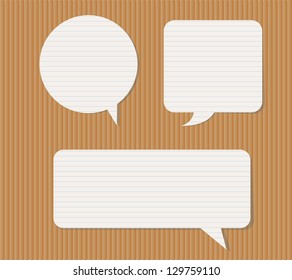 Vector illustration of paper chat clouds.
