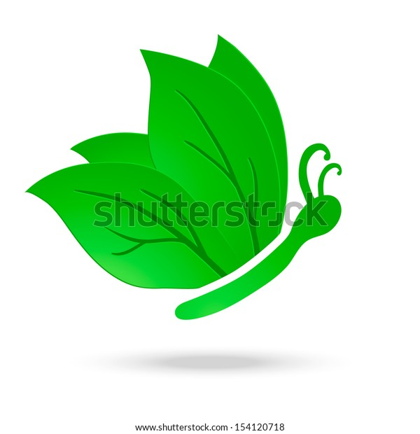 Vector illustration of paper ecology butterfly