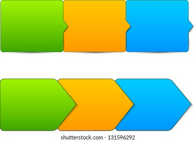 Vector illustration of paper progress steps for tutorial. Eps10.