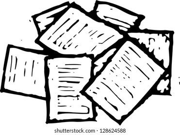 Vector illustration of paperwork