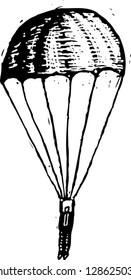 Vector illustration of parachute