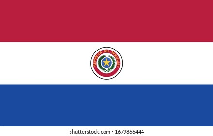 vector illustration of Paraguay flag