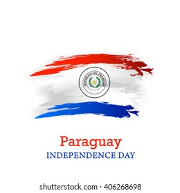 Vector illustration of Paraguay Happy independence day.