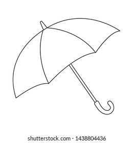 Vector illustration of parasol and water icon. Collection of parasol and water stock vector illustration.