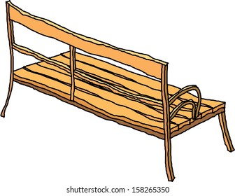 Vector illustration of a park bench