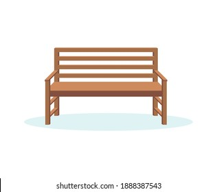 vector illustration of park bench, flat style