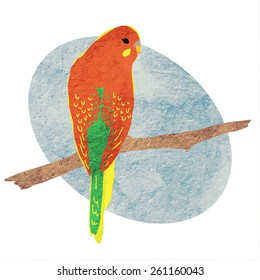 Vector illustration of a parrot