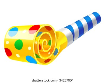 vector illustration of Party Horn Blower
